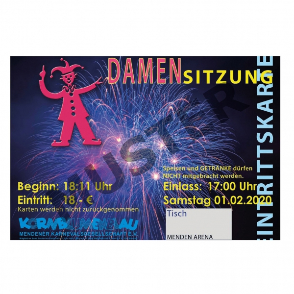 Ticket-Damensitzung 01.02.2020