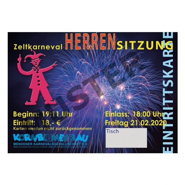 Ticket-Herrensitzung 21.02.2020
